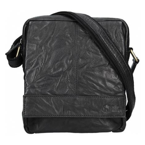Pánská kožená taška přes rameno SendiDesign Mattia - černá Sendi Design