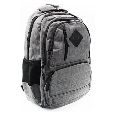 Světle šedý studentský prostorný batoh Kieran New Berry