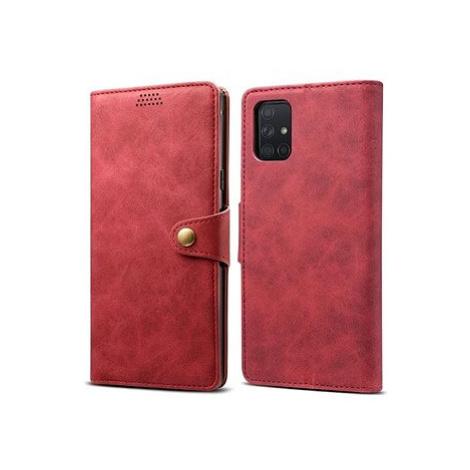 Lenuo Leather pro Samsung Galaxy A71, červená