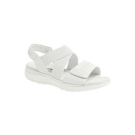 Bílé kožené komfortní sandály Medicus