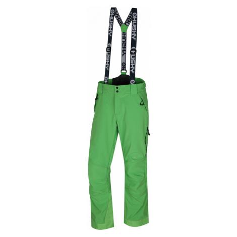 Husky Galti M, sv. zelená Pánské lyžařské kalhoty