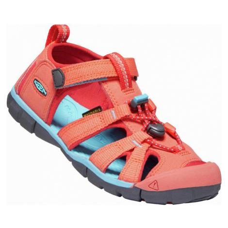 KEEN SEACAMP II CNX JR. Dětské sandály 10012463KEN01 coral/poppy red