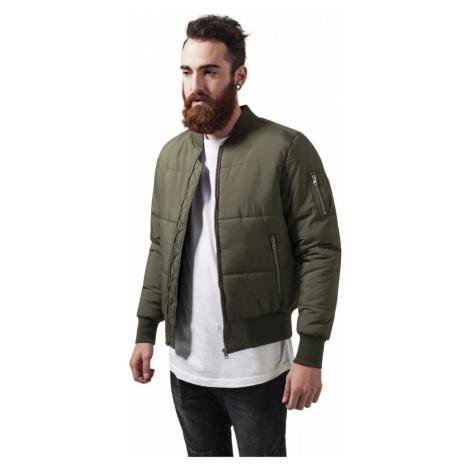 Bunda Urban Classics Basic Quilt Bomber Jacket - olive