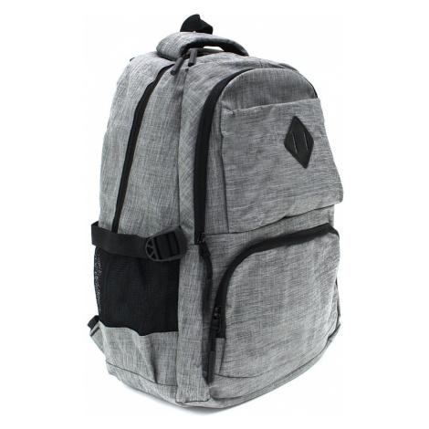 Světle šedý studentský prostorný zipový batoh Maxton Tapple