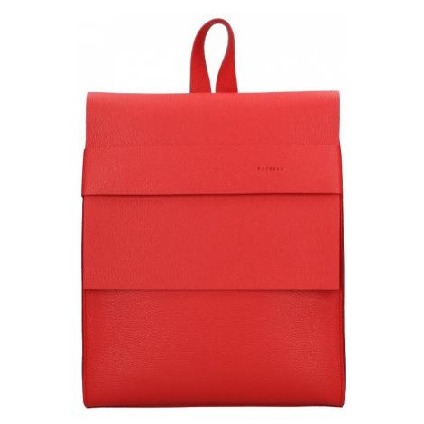 Dámský kožený batoh Facebag Apolens - červená