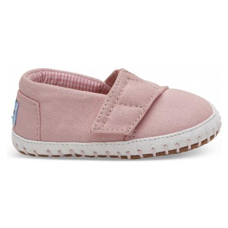 CRIB ALPARGATA-Pink Canvas TINY Toms