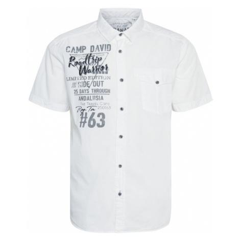CAMP DAVID Košile bílá / šedá / černá