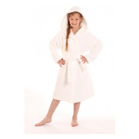 dětský župan Athena bílý s kapucí dětské č.152 dětský župan s kapucí Vestis