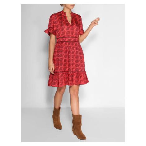 Scotch & Soda SCOTCH & SODA dámské červené šaty