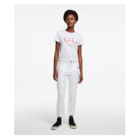 Džíny Karl Lagerfeld Karl Legend Denim - Bílá