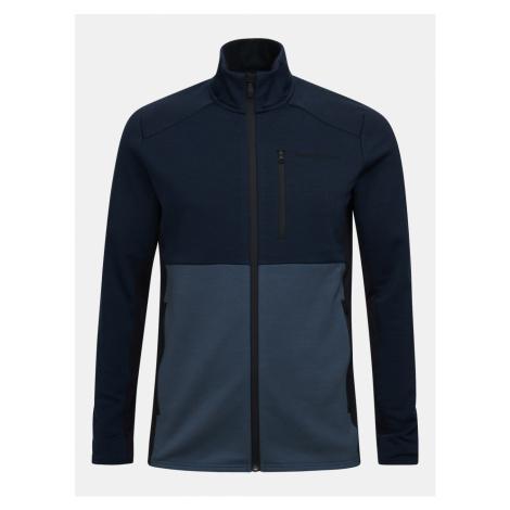 Mikina Peak Performance M Vertical Mid Zip Jacket - Modrá