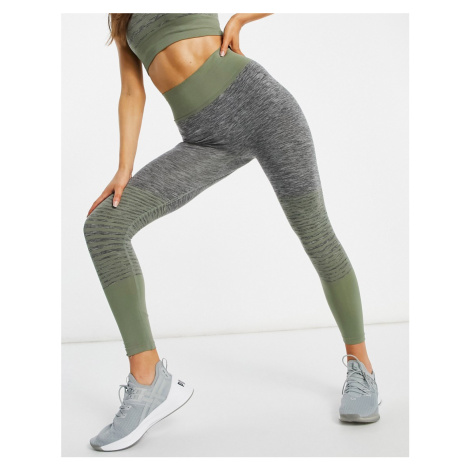 HIIT Kerenza seamless ombre leggings in grey and green