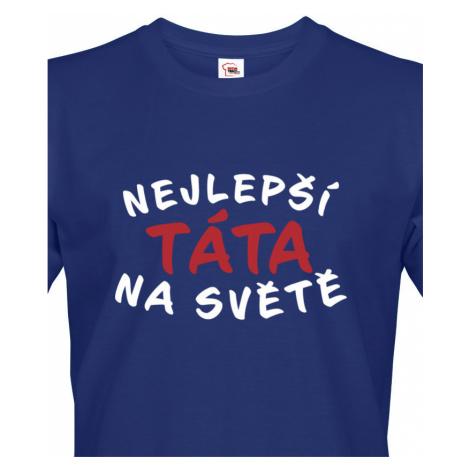 Vtipné tričko s potiskem Nejlepší táta na světě - originální dárek BezvaTriko