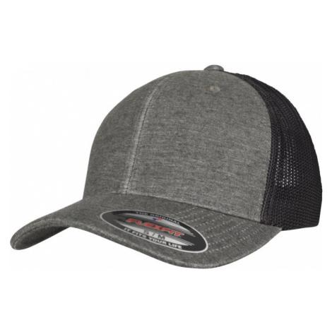 Retro Trucker Melange Cap - khaki/black mesh Urban Classics