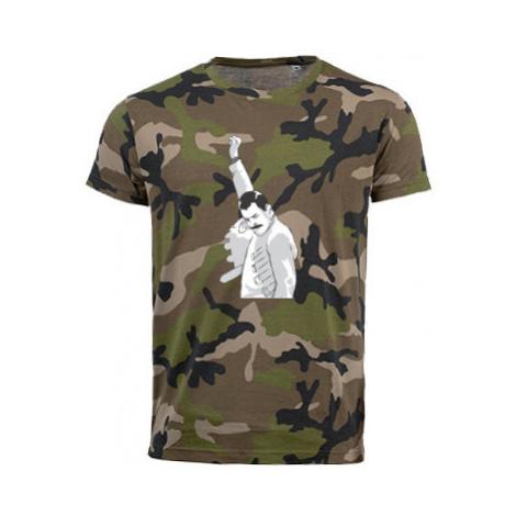 Pánské maskáčové tričko Freddie Mercury