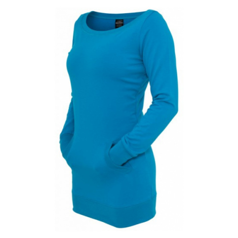 Urban Classics Ladies Long Crewneck turquoise