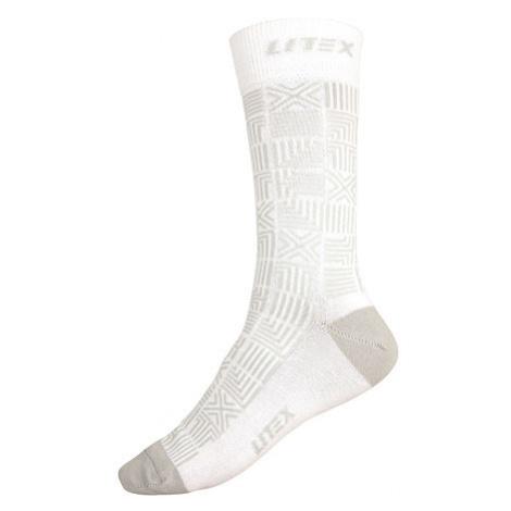 Litex 9A005 Designové ponožky | bílá