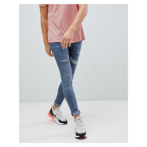 River Island skinny jeans in blue grey wash
