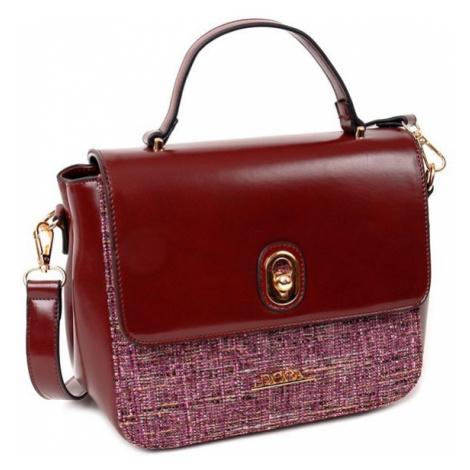 Dámská kabelka Doca 12862 - vínová