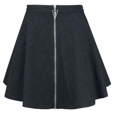 Banned Alternative Kruhová sukně Scratch Mini sukně černá