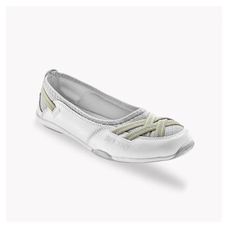 Blancheporte Pružné kožené baleríny, bílé bílá