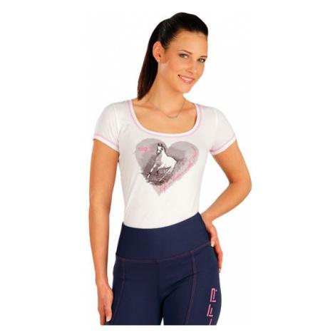 Dámské triko s krátkými rukávy Litex J1182 | bílá