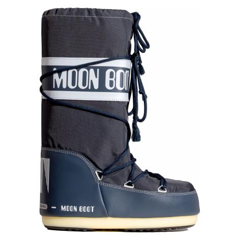 Boty Moon Boot NYLON šedá|tmavomodrá