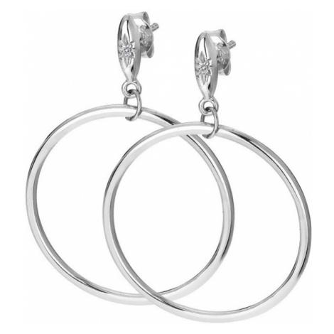 Hot Diamonds Stříbrné kruhové náušnice s diamanty Hoops DE631