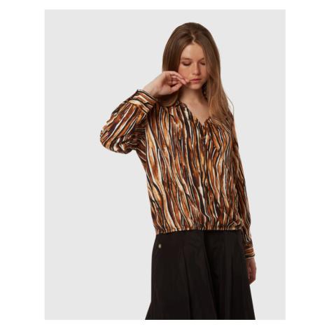Košile La Martina Woman Printed Twill Shirt - Hnědá
