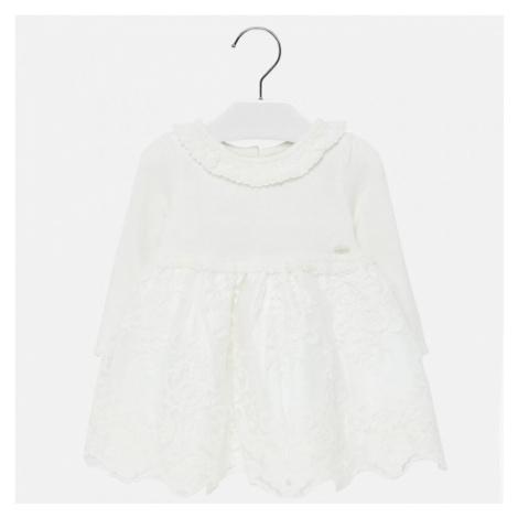 Dívčí, slavnostní šaty Mayoral 2909 | smetanová