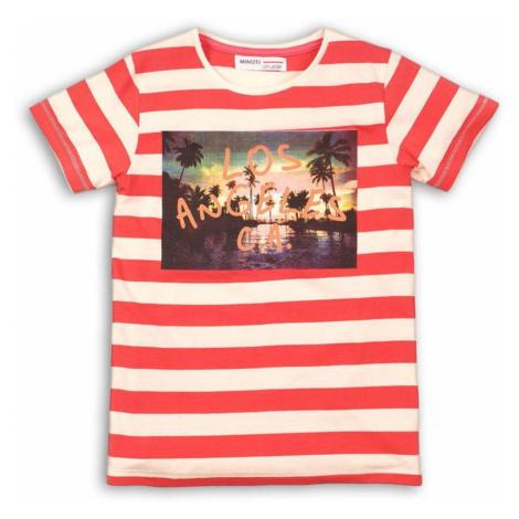 Červené pruhované chlapecké tričko s krátkým rukávem Yusuf Pidilidi