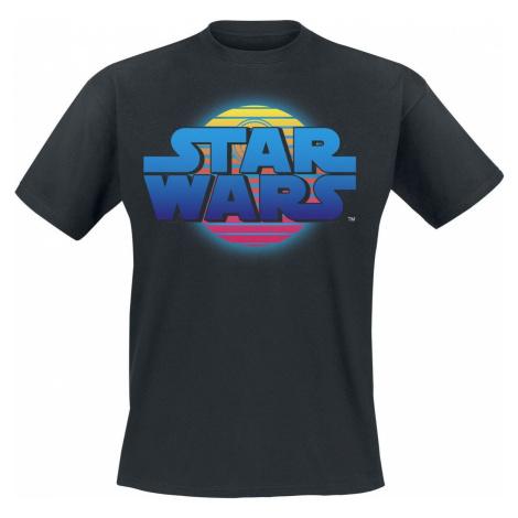 Star Wars Neon Death Star Tričko černá
