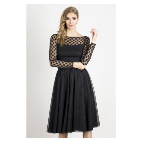 Dámská tylová sukně v černé barvě YASMINE IVON