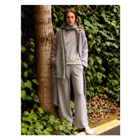 Koton Women Gray Straight Trousers