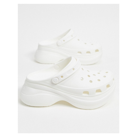 Crocs Bae platform clog in white