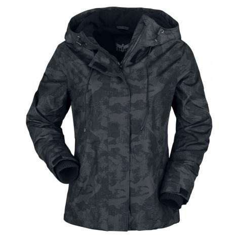Black Premium by EMP Schwarze Camo Jacke mit weichem Innenfutter dívcí bunda tmavě maskáčová