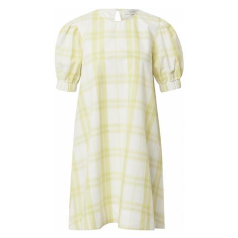 Thinking MU Letní šaty bílá / světle žlutá