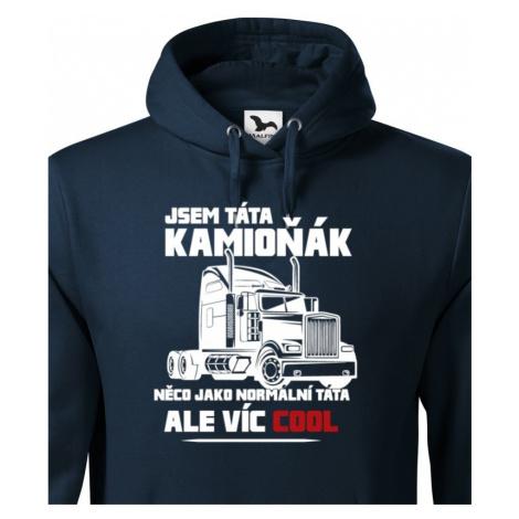 Pánská mikina pro řidiče kamionu / kamioňáky - Táta kamioňák BezvaTriko