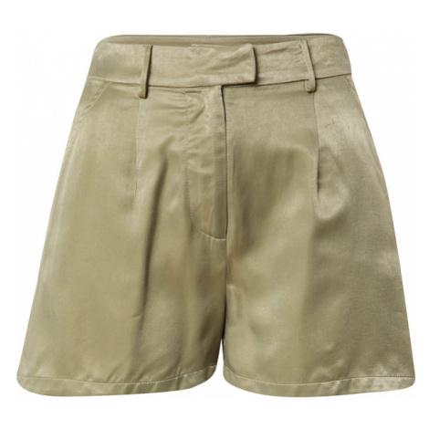CLUB L LONDON Kalhoty se sklady v pase khaki