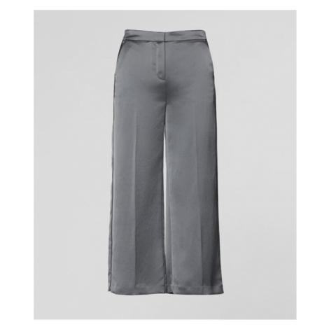 Kalhoty Karl Lagerfeld Cropped Wide Leg Pants - Šedá