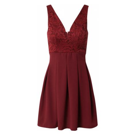 WAL G. Koktejlové šaty vínově červená
