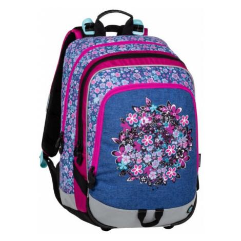 Školní batoh pro prvňáčky ALFA 20 A BLUE/PINK/WHITE, motiv květin, holčičí, růžová, dívky, kytky BAGMASTER