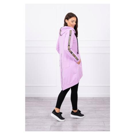 Sweatshirt with zip at the back purple Kesi