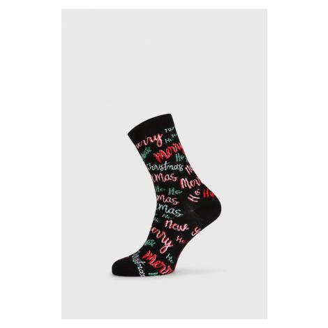 Dámské vánoční ponožky Ho Ho Ho černá John Frank