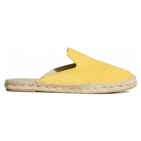 Pantofle Manebi HAMPTONS Żółty
