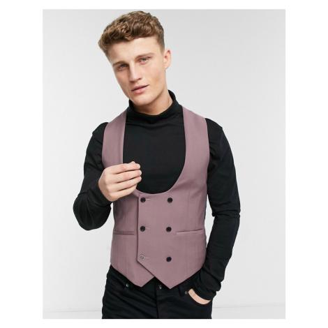 Harry Brown skinny fit suit waistcoat-Pink