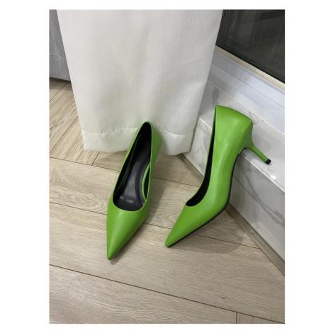 Kožené lodičky se špičatou špičkou obuv na mini jehlovém podpatku