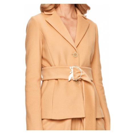 Béžový vlněný kabátek - PATRIZIA PEPE