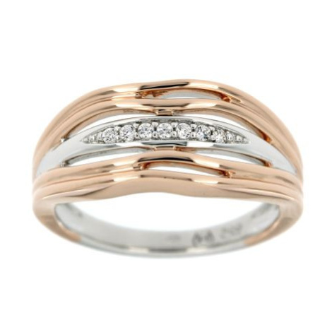 Stříbrný dámský prsten ROSE GOLD