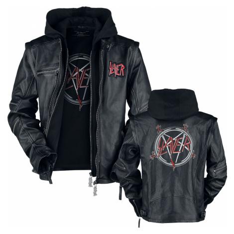 Slayer Pentagram kožená bunda černá